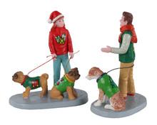12019 - Festive Friends, Set of 2 - Lemax Figurines