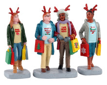 12026 - Girls Christmas Shopping Trip, Set of 3 - Lemax Figurines
