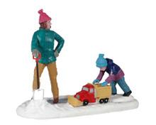 12029 - Clearing the Sidewalk - Lemax Figurines