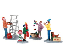 12030 - Getting Ready to Decorate, Set of 4 - Lemax Figurines