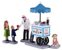 12037 - Happy Scoops Ice Cream Cart, Set of 5 - Lemax Figurines