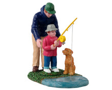 12038 - His First Fishing Lesson - Lemax Figurines