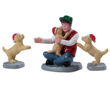 92778 - New Puppies, Set of 3 - Lemax Figurines