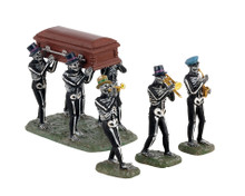 13554 - Jazz Funeral, Set of 4 - Lemax Spooky Town Accessories