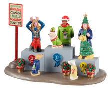 13556 - Canine Holiday Sweater Contest - Lemax Table Pieces
