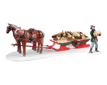 13559 - Firewood Delivery, Set of 2 - Lemax Table Pieces
