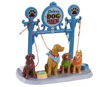 13567 - Dog Parking - Lemax Table Pieces