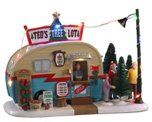 04746 - Ted's Tree Lot, Battery-Operated (4.5v) - Lemax Table Pieces