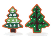 04766 - Sugar Cookie Trees, Set of 2 - Lemax Misc. Accessories