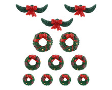 04802 - Garland and Wreaths, Set of 12 - Lemax Misc. Accessories