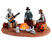 14827 - Warming Their Bones, Battery-Operated (4.5v) - Lemax Spooky Town Accessories