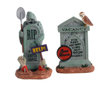 14831 - Tombstone Duo, Set of 2 - Lemax Spooky Town Accessories
