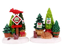 14844 - Tree Farm Display, Set of 2 - Lemax Misc. Accessories