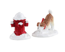14860 - Snow Hydrant, Set of 2 - Lemax Misc. Accessories