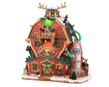 15793 - Santa's Reindeer Training Academy, Battery-Operated (4.5v) - Lemax Santa's Wonderland