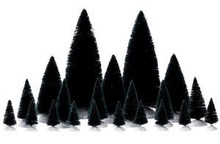 74691 - 21 Piece Assorted Fir Trees - Lemax Christmas Village Trees