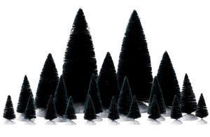 74691 - 21 Piece Assorted Fir Trees - Lemax Christmas Village Trees