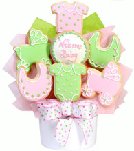 New Baby Girl Cookie Basket