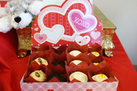 Valentines Cupcake Basket