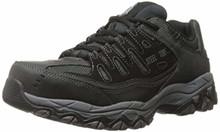 Skechers for Casual Steel Toe Work Sneaker, Black/Charcoal