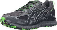 ASICS Men's Gel-Scram 3 Trail Runner, Carbon/Black/Green Gecko