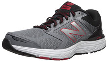 New Balance Men's 560v7 Cushioning Running Shoe, Silver/Black