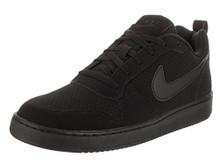 NIKE Men's Court Borough Low Athletic Shoe, Black/Black-Black