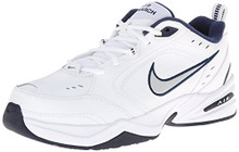 NIKE Men's Air Monarch IV Athletic Shoe, white/metallic silver