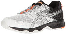 ASICS Men's Gel-Sonoma 3 Running Shoe, White/Silver/Hot Orange