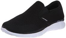 Skechers Sport Men's Equalizer Double Play Slip-On Loafer,Black/White