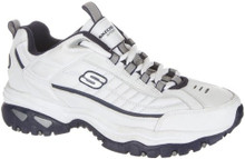 Skechers Energy After Burn Mens Sneakers White/Navy 10 W