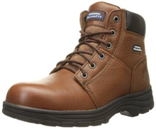Skechers for Work Men's Workshire Relaxed Fit Work Steel Toe Boot,Brown,11 M US