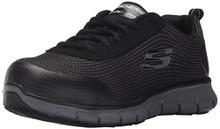Skechers For Work Women's Synergy Wingor Work Shoe, Black