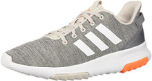 adidas Big Kids' CF Racer TR K Sneaker,Chalk Pearl/White/Hi-res Orange