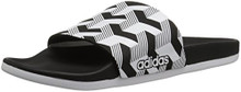 Adidas Men's Adilette CF+ Link GR Slide Sandal, core Black White