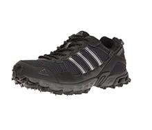 Adidas Men's Rockadia Trail M Running Shoe, Black/Black/Dark Grey