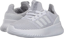 Adidas Neo Boys' Cloudfoam Ultimate Sneaker, White/White/Grey Two