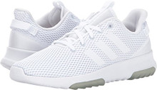 Adidas Neo Women's Cf Racer Tr W Road-Running-Shoes,White/Matte Silver