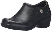 CLARKS Women's Channing Ann Slip-on Loafer, Black Leather