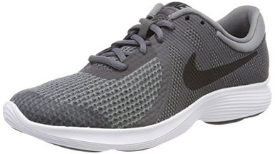 huge selection of 00754 c42d7 NIKE Kids Revolution 4 (Big Kid) Boys School Shoes Black Cool Grey ...
