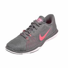 save off c16b7 fc098 Nike Womens Flex Supreme TR 5 Training Shoes Dark GreyHot Punch-White