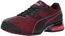 PUMA Men's Tazon 6 Knit Sneaker, Black-Toreador