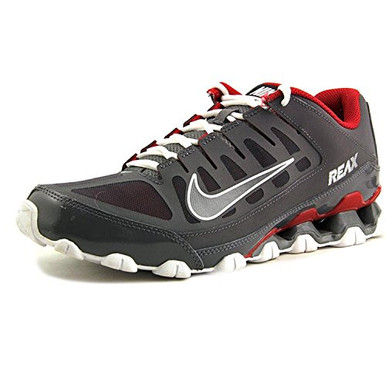 NIKE Men's Reax 8 TR Mesh Dark GreyDark Grey Gym Red 621716 013 Shoe