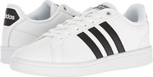 adidas Performance Men's Cloudfoam Advantage Sneakers, White/Black/White