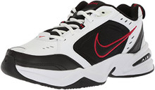 NIKE Men's Air Monarch IV (4E) Athletic Shoe, white/black