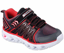 Skechers 90585N Kids' S Lights: Hypno-Flash 2.0 Sneaker, Charcoal/Red