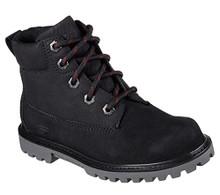 Skechers 93164L Boy's Mecca - Outer Venture Boots, Black