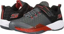 Skechers 97606L Boy's Clear Track - Lunar Shift Shoes, Charcoal/Black