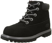Skechers Boys' Mecca Mitigate Ankle Boot,Black