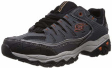 Skechers Men's AFTER BURN M.FIT Memory Foam Lace-Up Sneaker, Charcoal